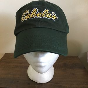 Cabelas Forest Green Baseball cap hat one size